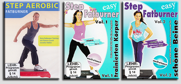 3 dvd set step aerobic fatburner workout f r steppbrett stepper neu ebay. Black Bedroom Furniture Sets. Home Design Ideas