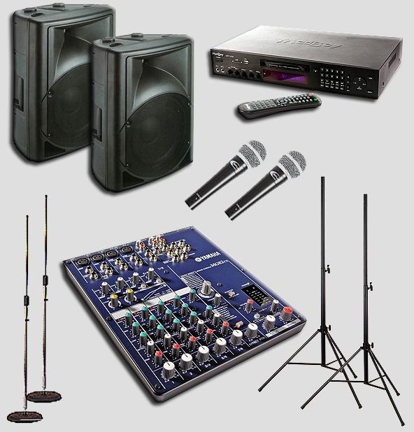 karaoke profi system yamaha player boxen mikros. Black Bedroom Furniture Sets. Home Design Ideas